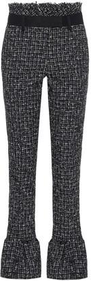 Sacai High-rise slim tweed pants
