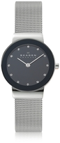 Skagen Freja Black Stainless Steel Mesh Bracelet Women's Watch