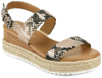Aerosoles Union Leather Espadrille Platform Sandal
