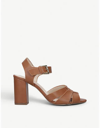 Nine West Kick faux-leather heeled sandals