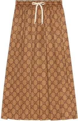 Gucci GG technical jersey skirt