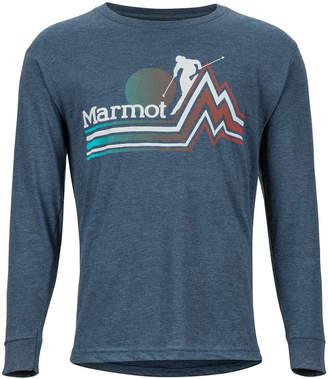 Marmot Men Eco-Friendly Piste Long Sleeve T-Shirt