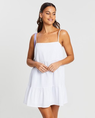 Dazie Harmony Cotton Blend Swing Dress