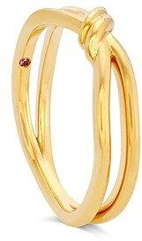 Hayley Paige for Hearts on Fire 18K Yellow Gold Forget-You-Never Band with Pink Sapphire