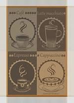 Garnier Thiebaut Garnier Thiebaut, Tasses De Cafe (Coffee Cups) Moka Woven French Kitchen / Tea Towel, 100 Percent Cotton