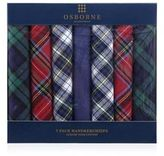 Osborne Set Of Seven Cotton Tartan Handkerchiefs