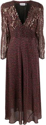 Rixo Selma rose-print midi dress