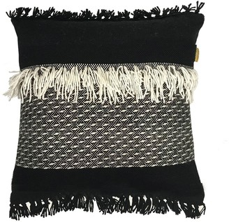 Malagoon Black 'n' White Acrylic & Wool Pillow