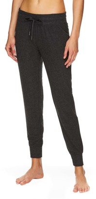 Gaiam Women's Sweatpants CHARCOAL - Charcoal Heather Skinny Elle Joggers - Women