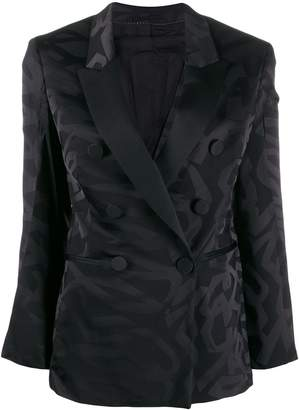 Neil Barrett double-breasted abstract print blazer