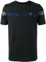 Fendi 'No Words' embroidered T-shirt - men - Cotton - 50
