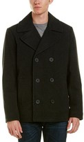 Kenneth Cole New York Wool-blend Peacoat.