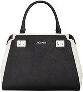 Calvin Klein Top Handle Leather Satchel