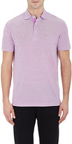 Barneys New York MEN'S PIQUÉ POLO SHIRT-PURPLE SIZE S