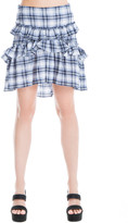 Max Studio Tiered Plaid A-Line Skirt