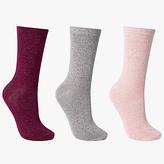 John Lewis Glitter Ankle Socks, Pack of 3, Multi