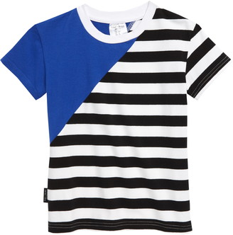 TINY TRIBE Blue Diagonal T-Shirt