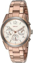 DKNY Women's 'Crosby' Quartz Stainless Steel Casual Watch, Color:Rose Gold-Toned (Model: NY2472)