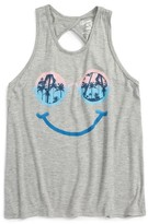 Flowers by Zoe Girl's Smiley Graphic Tank