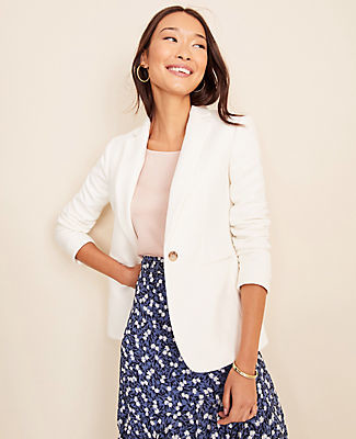 Ann Taylor The Petite Hutton Blazer in Piped Tweed