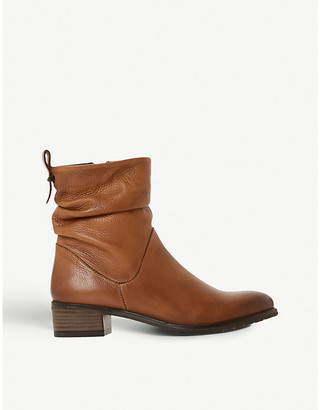 Dune Pagerss 2 leather heeled ankle boots