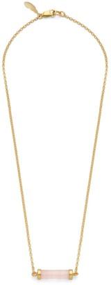 Bar Of Love Necklace Rose Quartz