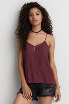 American Eagle Outfitters AE Button Front Keyhole Cami