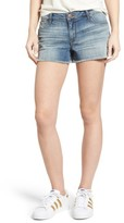 Women's Sts Blue Frayed Hem Side Slits Denim Shorts