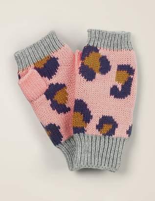 Boden Leopard Fingerless Gloves