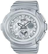 Baby-G Casio Baby G Studded Dial Silver Strap Watch