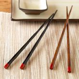 Wavy Bamboo Chopsticks Sets of 2 Pairs