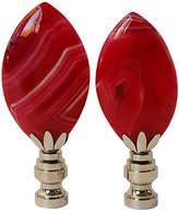 One Kings Lane Vintage Red Agate Lamp Finials