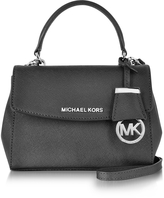 Michael Kors Ava Black Saffiano Leather XS Crossbody Bag