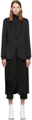 MM6 MAISON MARGIELA Black Double Layer Coat