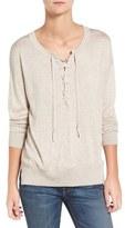 Splendid Lakewood Lace-Up Sweater