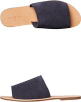 Urge Womens Molly Suede Slide Blue