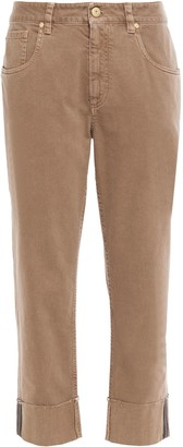 Brunello Cucinelli Cropped Bead-embellished Mid-rise Straight-leg Jeans