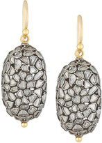 Gurhan Pastiche Two-Tone Diamond Slice Oval Drop Earrings