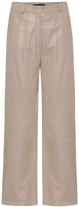 ZEYNEP ARCAY High-rise wide-leg leather pants