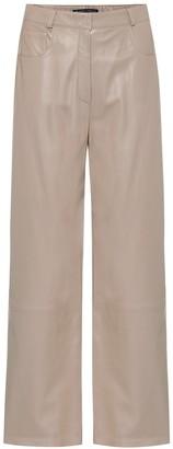 Zeynep Arçay High-rise wide-leg leather pants