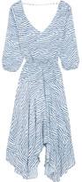 Vix Chiara Printed Jersey Dress - Light blue