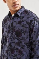 Urban Outfitters Overdyed Floral Flannel Button-Down Shirt