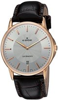 Edox Men's 56001 37R AIR Les Bemonts Analog Display Swiss Quartz Brown Watch