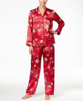 Thalia Sodi Notch Collar Satin Pajama Set, Only at Macy's