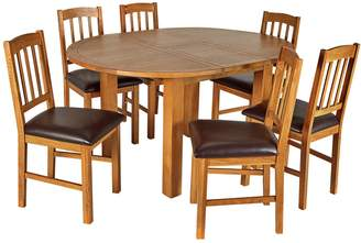 Argos Home Ashwell Oak Veneer Extending Table & 6 Chairs