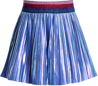 Hannah Banana Pleated Metallic Skirt, Size 4-6X