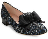 Kate Spade Gino Bow-Accent Tweed Loafers