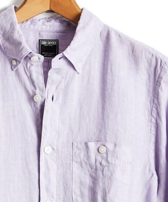 Todd Snyder Portuguese Linen shirt in Lavender