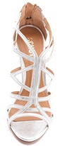 Schutz Ivana Suede Cage Sandals