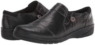 Clarks Cheyn Crystal (Black Leather) Women's Shoes